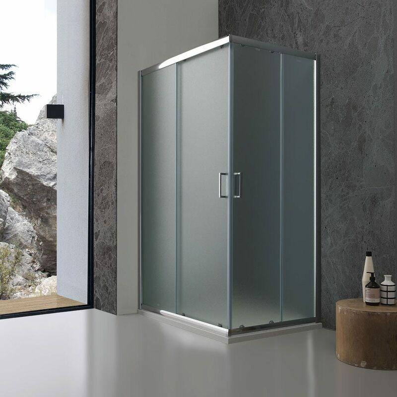 Box doccia 70x90 in cristallo opaco ed ante scorrevoli for Vasche x laghetti