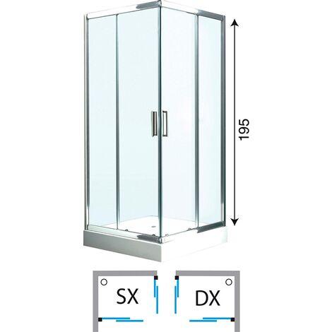 Box Doccia 70x100 Offerte.Box Doccia Cabina Angolare Circolare Scorrevole Vetro Cristallo 6 Mm Offerta
