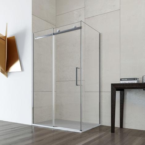 Box doccia cabina angolare scorrevole cristallo TRASPARENTE anticalcare 8mm Mimosa