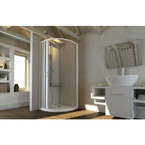 Box doccia cabina angolare tondo semicircolare in PVC riducibile su misura