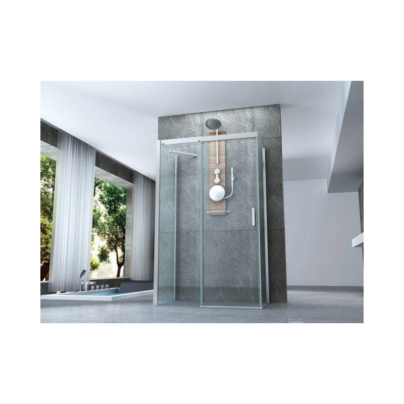 Pareti Per Doccia In Vetro : Box doccia centro parete tre lati 70x70x90 cm apertura scorrevole