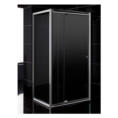 Box Doccia 70x90 Cristallo 6 Mm.Box Doccia Cristallo 6 Mm 2 Lati Fisso Piu Battente Trasparente