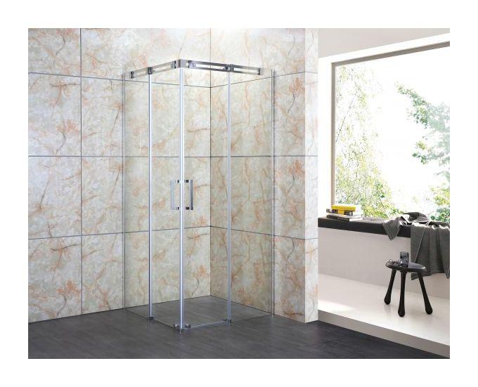 Cabine Doccia Cristallo : Mitepek box doccia semicircolare ante battente cristallo