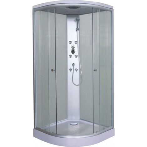 Box doccia idromassaggio angolare quickline 90x90cm