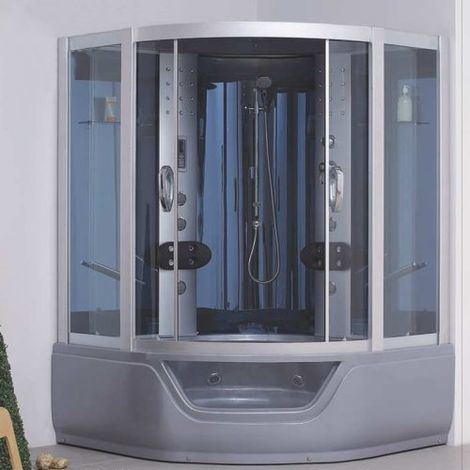 Box doccia idromassaggio combinata con vasca 150x150 cm PERLA GRIGIA