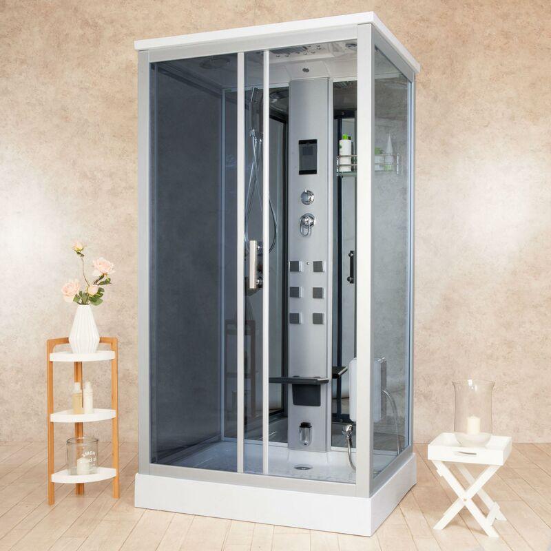 Cabina Doccia Idromassaggio Sauna.Box Doccia Idromassaggio Multifunzione 110x90 Cm Vorich Element