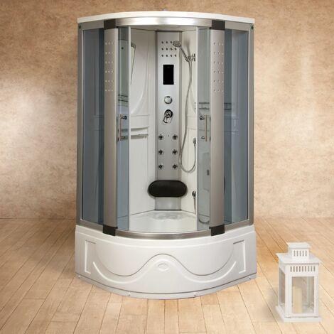 Box doccia idromassaggio 105x105 cm vasca sauna e bagno turco vorich texas for Box doccia sauna bagno turco