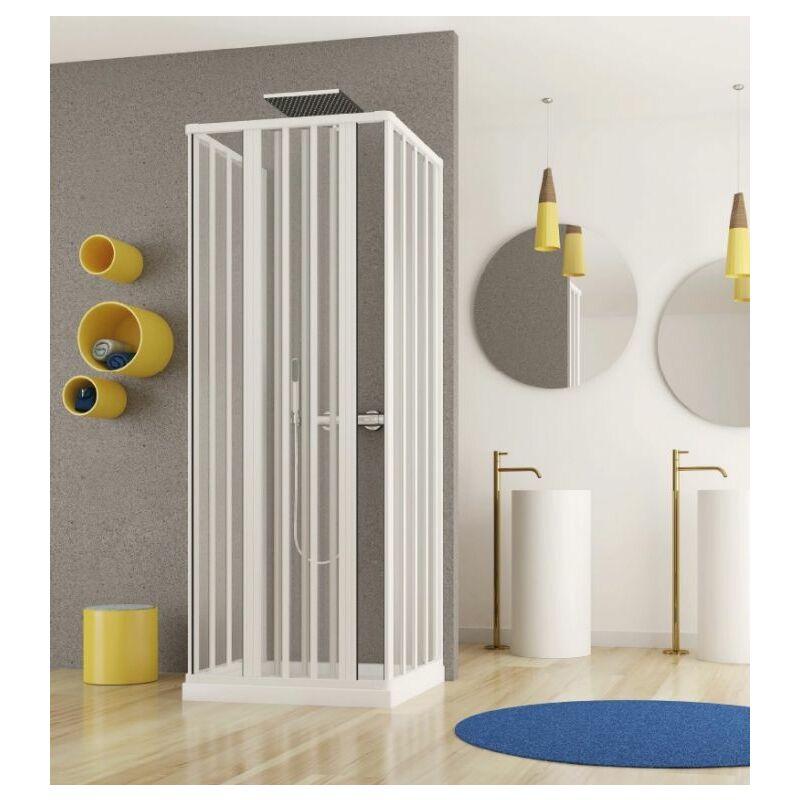 docciabox box doccia in pvc 3 lati apertura bilaterale con doppia chiusura ad angolo misura