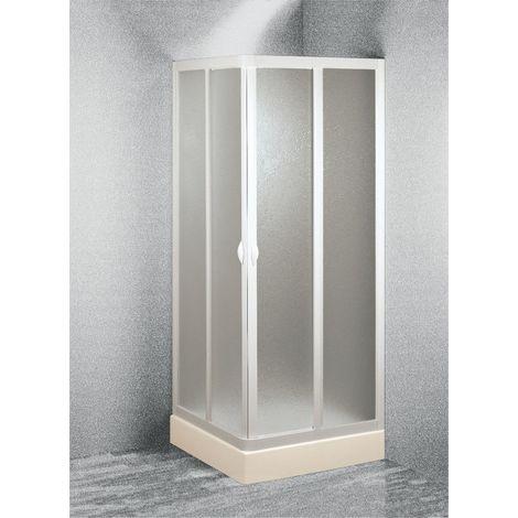 BOX DOCCIA CABINA DOCCIA PVC ANGOLARE H.185 LARGHEZZA 70//80 ARREDO BAGNO
