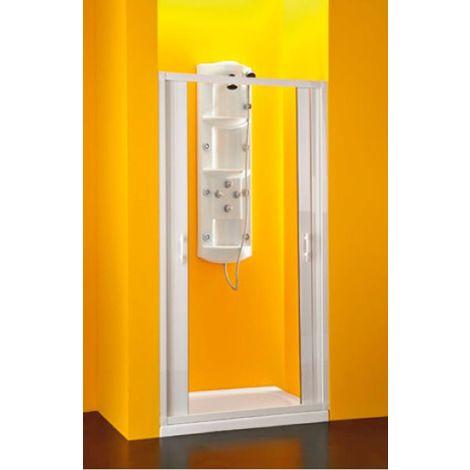 BOX DOCCIA IN PVC RIDUCIBILE SOFFIETTO SIRIO 80-60 X 188 CM LATERALE FORTE