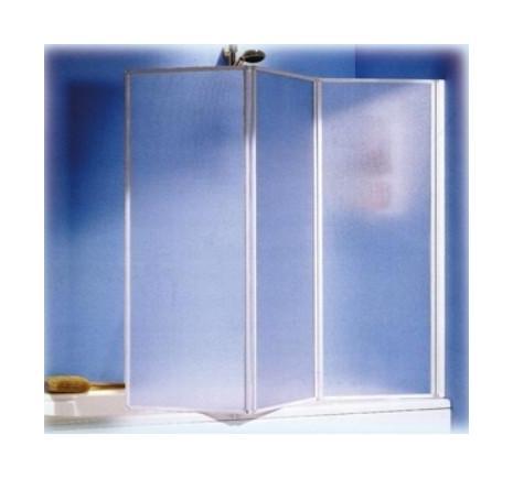 Box Doccia Per Vasca Da Bagno.Box Doccia Parete Per Vasca Da Bagno In Alluminio A Tre Ante Cm 46 X 131