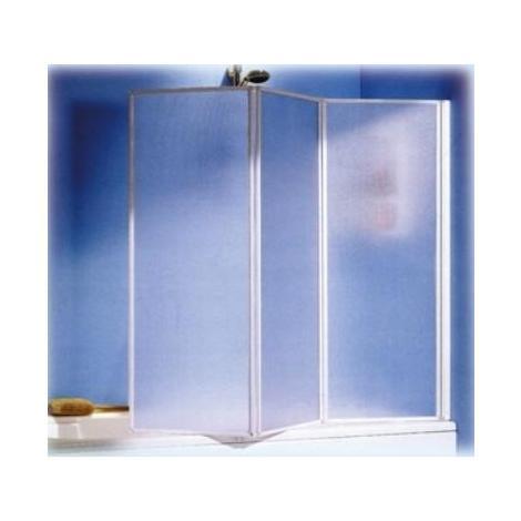 Box Doccia Per Vasca Bagno.Box Doccia Parete Per Vasca Da Bagno In Alluminio A Tre Ante Cm 46 X 131