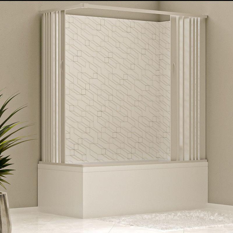 Box doccia parete vasca a soffietto in pvc 70x140 70x150 for Vasche x laghetti