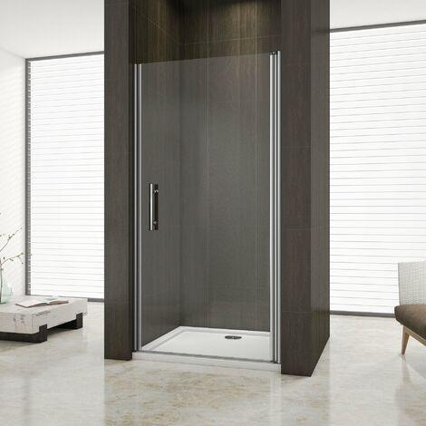 Box doccia per nicchia porta apertura a battente verso esterno cristallo temperato 6mm Easyclean alto 195cm