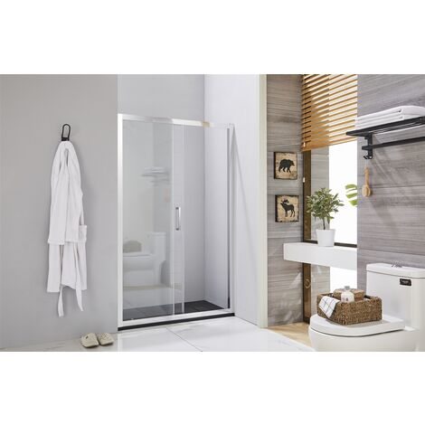Box doccia porta scorrevole per nicchia profilo cromato da 88 a 152 cm