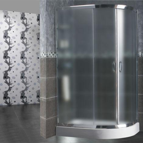 Box doccia semicircolare 70x90 cm opaco
