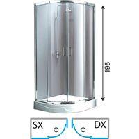 Box Doccia Semicircolare 80x80 H 180.Box Doccia Semicircolare 80x80 H 180 Al Miglior Prezzo