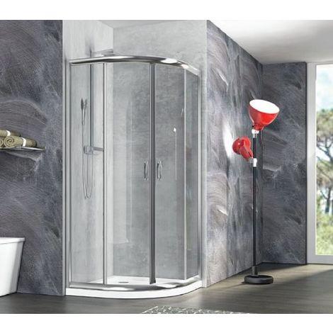 Box doccia semicircolare , scorrevole in cristallo 6mm Ponza