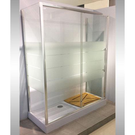 Box doccia trasformazione vasca 70x170x205 completo di piatto e accessori