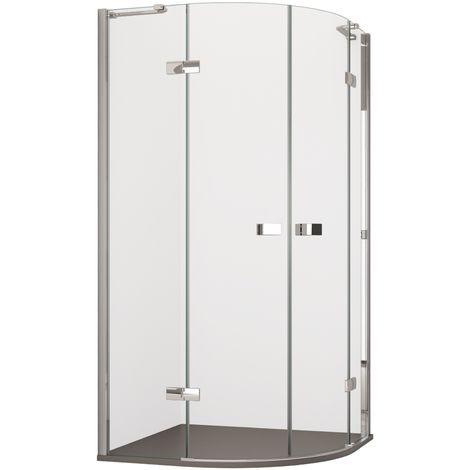 Box Doccia 80x80 Semicircolare.Box Doccia Ulivo 2 0 Semicircolare 80x80 90x90 8mm H195 Tondo Porte