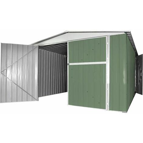 Box garage lamiera deposito in acciaio zincato 360x600cm x for Box garage lamiera