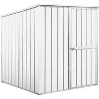 Box in Acciaio Zincato 1.75 x 1.85 m x h1.92 m - 70 KG - 2,92 metri quadri - BIANCO