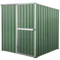 Box in Acciaio Zincato casetta attrezzi da giardino 175x185cm x h1.92m - 70KG – 2,92mq - VERDE