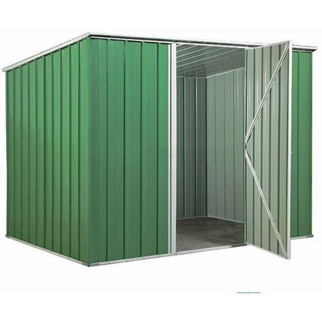 Box in Acciaio Zincato casetta attrezzi da giardino 260x185cm x h1.92 m - 85kg - 4,55mq