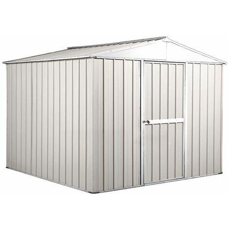 Box in Acciaio Zincato casetta attrezzi in lamiera 276x260cm x h2.12m - 110KG - 6,76mq- BIANCO