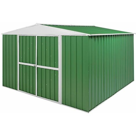 Box in Acciaio Zincato garage attrezzi lamiera 360x3.45cm x h2.12m - 150KG - 12,25mq
