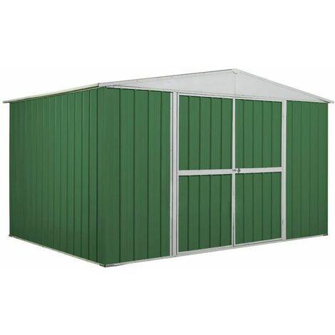 Box in Acciaio Zincato garage deposito attrezzi 360x260cm x h2.12m - 130KG – 9,1mq - VERDE