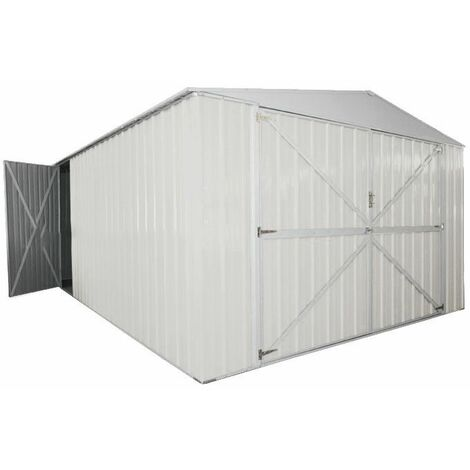 Box in Acciaio Zincato garage deposito attrezzi 360x514cm x h2.30m - 320KG - 18mq – BIANCO