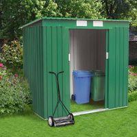 Box in lamiera zincata verde casetta giardino attrezzi ripostiglio MEDIUM