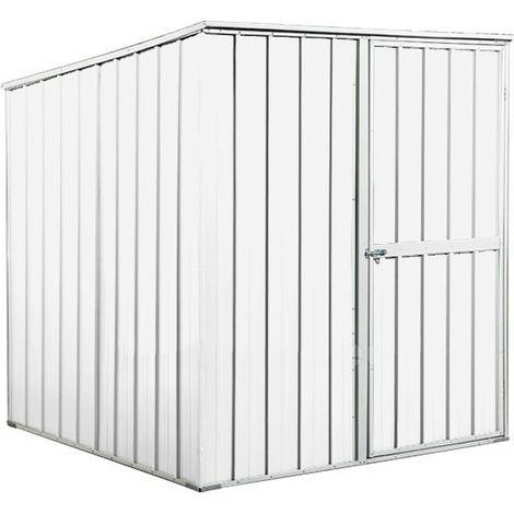 Box lamiera attrezzi casetta giardino in Acciaio Zincato 175x185cm x h1.92m - 70KG – 2,92mq - BIANCO
