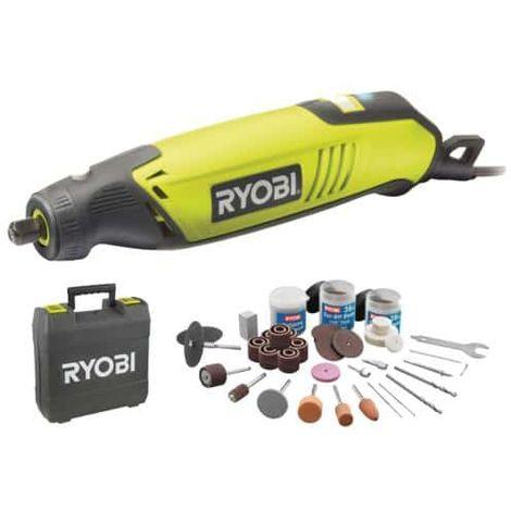 Box multifunction tools RYOBI 150W - 115 accessories - Flexible shaft - telescopic support EHT150V