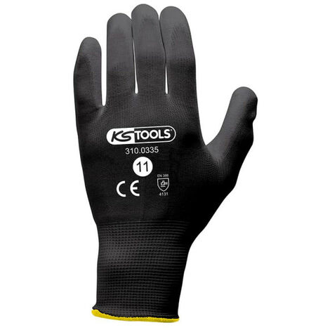 Box of 12 pairs of KS TOOLS gloves - Microfibres - Black - Size XXL - 310.0335