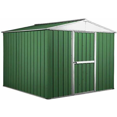 Box porta attrezzi casetta in Acciaio Zincato 276x260cm x h2.12m - 110KG – 6,76mq - VERDE