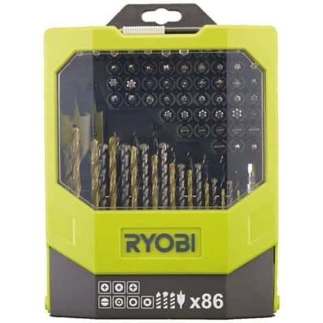 5db724774 Box RYOBI 86 accessories mixed - drilling and screwing RAK86MIXC