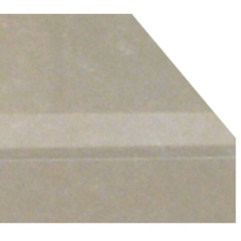 Boxed Flush Fireplace Hearth in White Stone Marble, 54 Inch