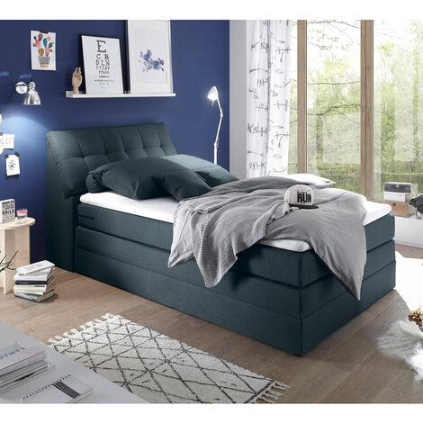 Boxspringbett 160x200 cm inklusive Bettkasten SALONA2-09 in 5 modernen Farben