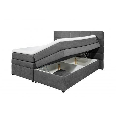 "Boxspringbett Doppelbett Polsterbett mit Stauraum - Bettkasten TACOMA 1 180x200 cm anthrazit grau-""SW14866"""