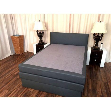 Boxspringbett Schlafzimmerbett SALERNA 180x200 cm inkl.Bettkasten