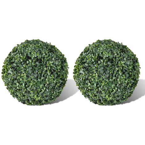 Boxwood Ball Artificial Leaf Topiary Ball 27 cm 2 pcs - Green