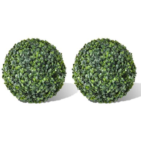Boxwood Ball Artificial Leaf Topiary Ball 35 cm 2 pcs - Green