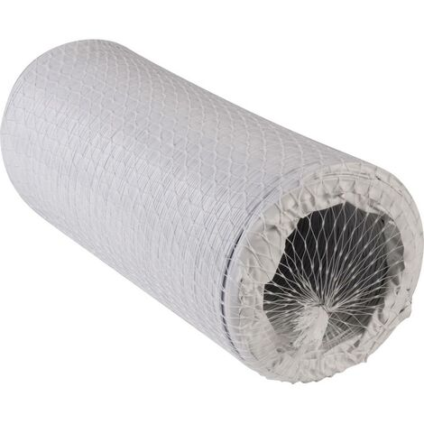 Boyau flexible spiralé Wallair N52848 (Ø x L) 12.7 cm x 3 m plastique blanc