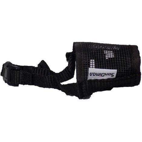 Bozal nylon SAN DIMAS color negro para perros - Talla L
