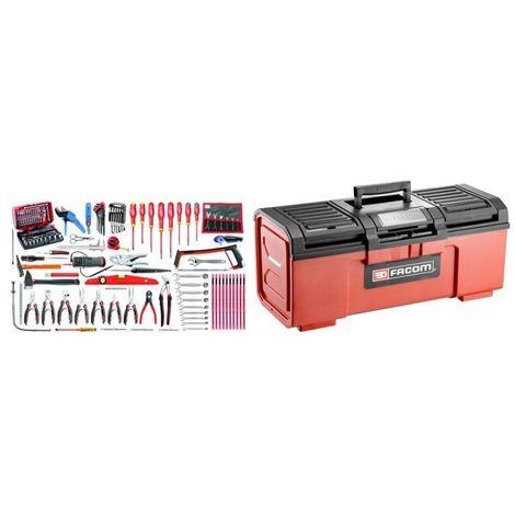 BPC24N.E18 Sélection électronique 120 outils plus boîte à outils plastique