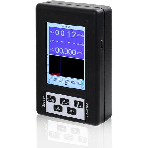 Br-9B Portable Portable Affichage Numerique Detecteur De Rayonnement Nucleaire Compteur Geiger Semi-Fonctionnelle De Type Dosimetre Testeur En Marbre