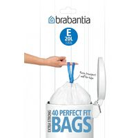 Brabantia Bin Liners Dispenser Pack Size E 20 L 40 Bags