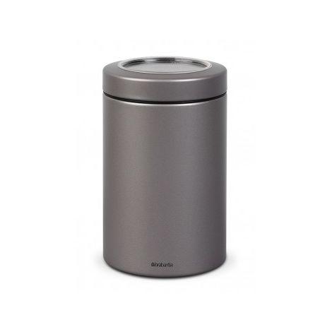 Brabantia Boîte à couvercle transparent, 1.4 litre - Platinum